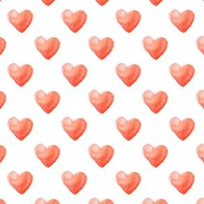 Rose Watercolor Hearts Pattern