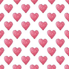 Red hearts seamless pattern
