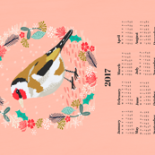 2017 goldfinch tea towel calendar bird design british garden birds by andrea lauren