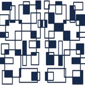Retro_Chairnavy white squared