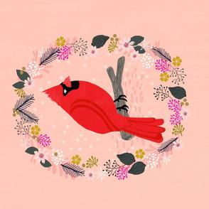 Roostery Tea Towels - cardinal bird backyard birds cute holiday tea towels