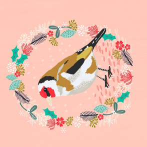 Roostery Tea Towel - cute goldfinch tea towel holiday birds best tea towel designs andrea lauren
