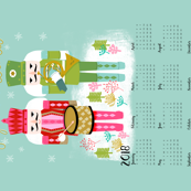 2018 Nutcracker Christmas Tea Towel calendar