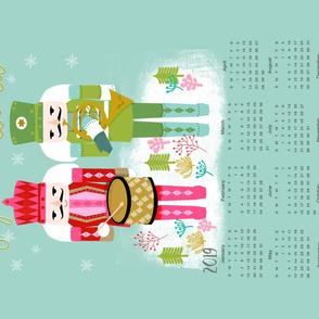 2019 Nutcracker Christmas Tea Towel calendar