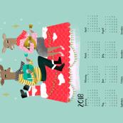 2018  tea towel christmas music deers reindeer christmas deer 2017 calendar