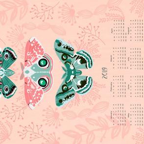 2019 Tea Towel Calendars Moths and Butterflies