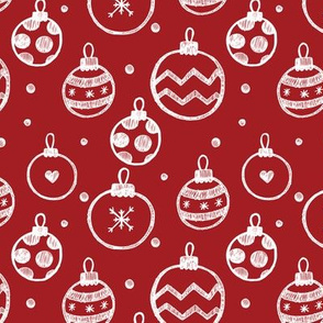 Christmas Decorations Red seamless pattern