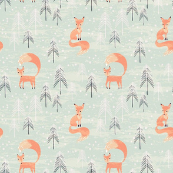 Fox in Winter Forest