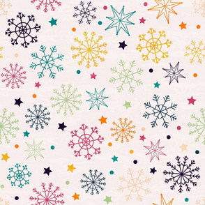 Multicolored Snowflakes