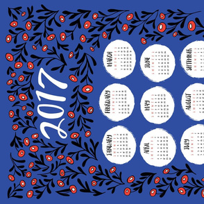 Tea Towel 2017 - Blue Floral