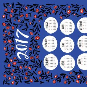 Tea Towel 2017 - Blue Floral