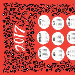 Tea Towel - Red Floral