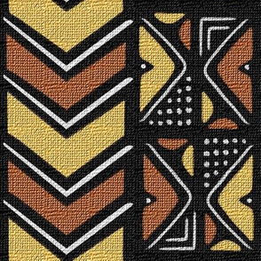 Mudcloth Inspired Chevrons and Dots