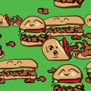 Poboy Kawaii on green