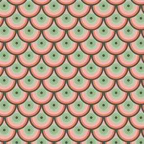 16-06m Peach and Green Tea Fish Scales_Miss Chiff Designs