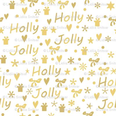 Golden Holly Jolly pattern