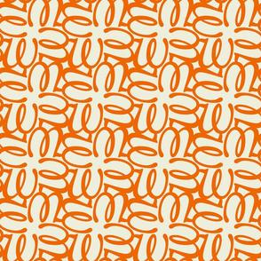 Letterform - w - orange
