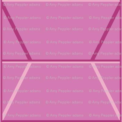 Plaza* (Pink Cow) || midcentury modern monotone wall breeze block texture geometric diamond triangle