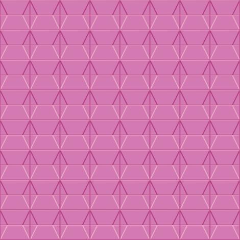 Plaza* (Pink Cow) || midcentury modern monotone wall breeze block texture geometric diamond triangle fabric by pennycandy on Spoonflower - custom fabric