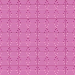 Plaza* (Pink Cow) || midcentury modern monotone wall breeze block texture geometric diamond triangle