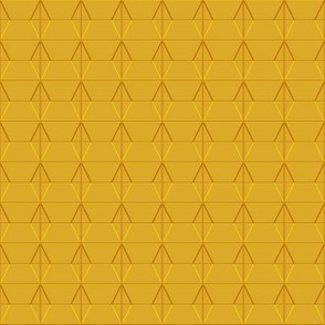 Plaza* (Gold Marilyn) || midcentury modern monotone wall breeze block texture geometric diamond triangle mustard