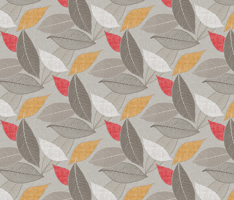 Lacy_Leaves_and_Linen fabric by j9design on Spoonflower - custom fabric