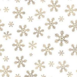 Gold Holiday Snowflakes