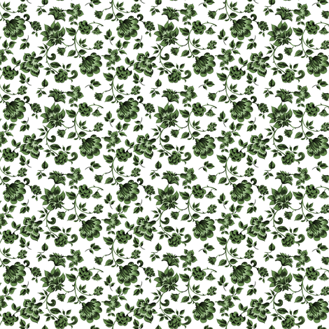 Fleurs de Provence ~ Tangling Green ~ Small fabric by peacoquettedesigns on Spoonflower - custom fabric