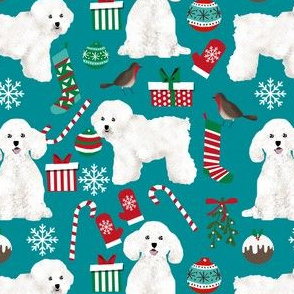 bichon frise christmas fabric cute xmas dogs design xmas fabrics for dogs