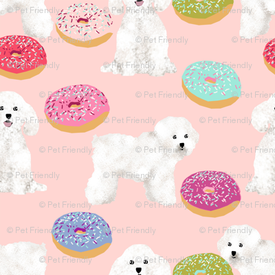 bichon frise dog fabric cute donuts design best dogs fabric for quilting cute dogs