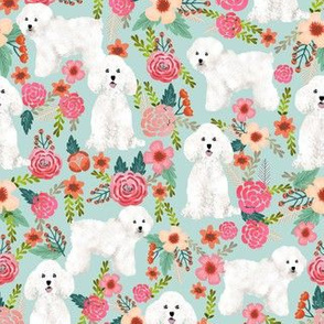 bichon florals cute bichon design best bichon frise fabric cute dog fabric
