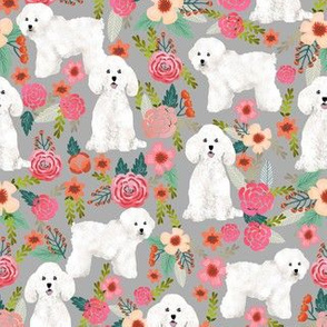 bichon florals fabric cute bichon design best bichon florals fabric cute bichon frise dog fabric