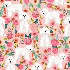 bichon florals fabric cute bichon frise dog fabric best florals les fleurs dog quilting fabrics