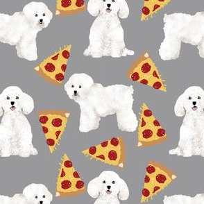 bichon frise pizza fabric cute pizza design dogs design best dogs fabric cute dogs fabrics