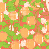 Fruity 2017 Calendar Teatowel