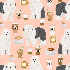 old english sheepdog coffees fabric cute coffees designs for dogs old english sheepdog owners will love this dog quilting fabric