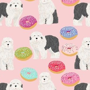 old english sheepdog donuts cute dogs design best dogs fabric cute english sheepdog fabrics