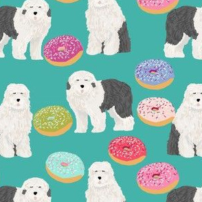 old english sheepdogs donuts fabric cute donuts designs best old english sheepdog fabrics cute pastel donuts