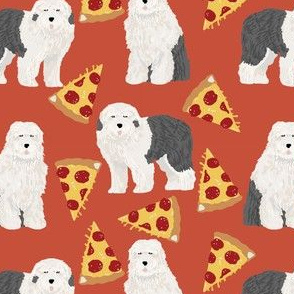old english sheepdog pizza fabric cute pizza dogs fabric best english sheepdogs fabric