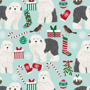 old english sheepdog cute dogs best dog design cute christmas fabrics for old english sheepdog owners
