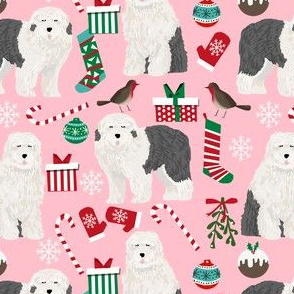old english sheepdog christmas fabrics cute old english sheepdogs fabric cute sheepdogs fabric
