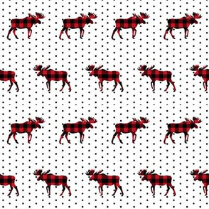 buffalo plaid moose christmas fabric xmas holiday red plaid