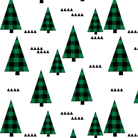 buffalo plaid christmas green plaid christmas xmas christmas plaids christmas fabric fabric by charlottewinter on Spoonflower - custom fabric