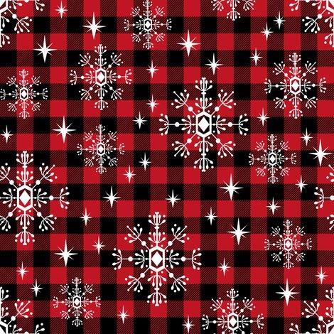 rwno_10_shop_preview buffalo plaid snowflakes winter christmas fabric snowflakes christmas - Christmas Plaid Fabric