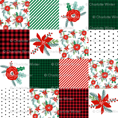 christmas cheater with plaid plaid cheater quilt christmas fabric patchwork red and green plaids tartan christmas