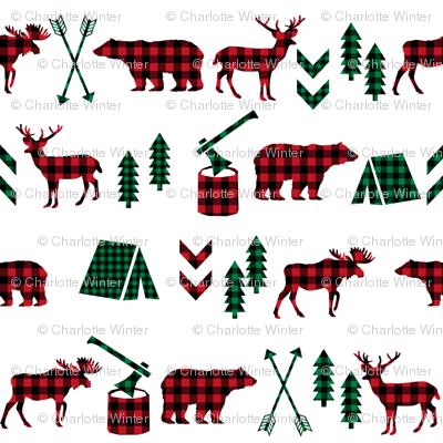 buffalo plaid christmas camping outdoors plaid kids cute kids designs