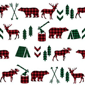buffalo plaid christmas camping outdoors plaid kids cute kids designs