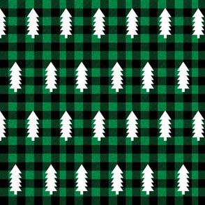 buffalo plaid trees evergreen fir tree christmas trees green buffalo plaid buffalo check outdoors cabin fabric