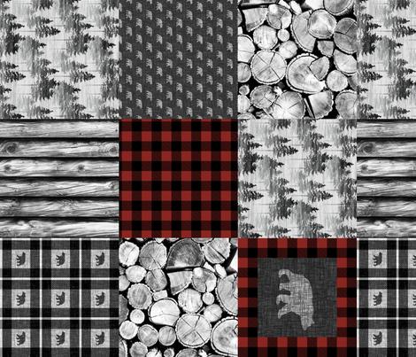 Urban Cowboy Patchwork - railroaded fabric by thecalvarium on Spoonflower - custom fabric