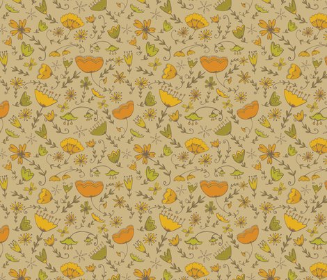 Pattern_simplefloral_orange_brown_shop_preview